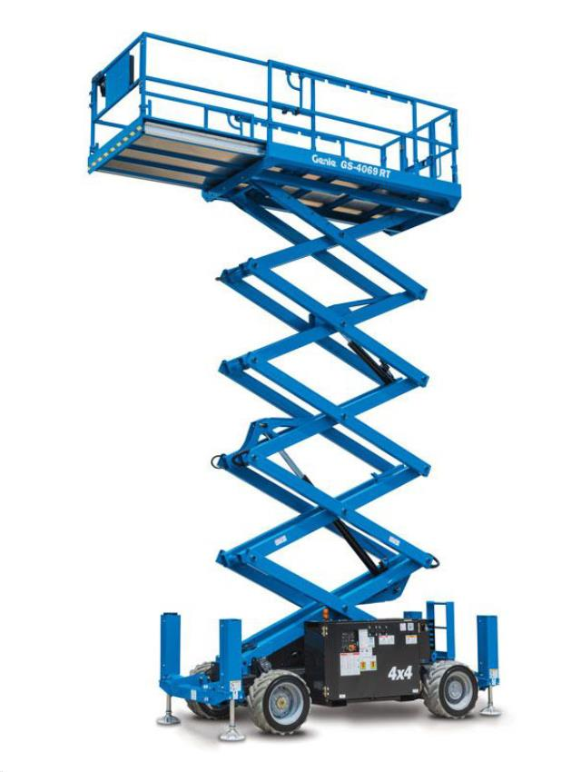 33 Foot Rt Scissor Lift W Outriggers D Rentals Clifton