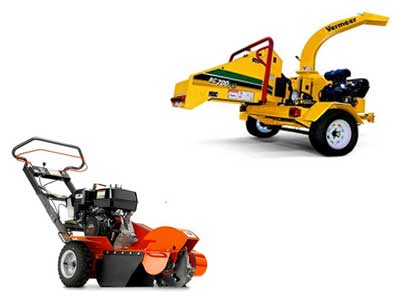 Rent Chippers And Stump Grinder