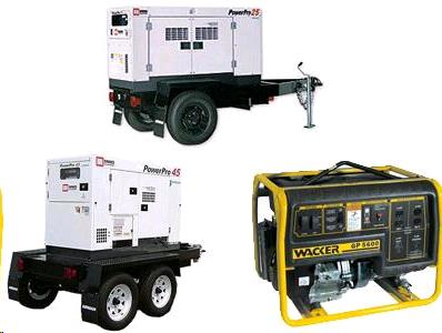 Rent Generators & Accessories